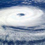 2012年9月 大型台風が直撃!巨大な台風の目の中心に突入しました